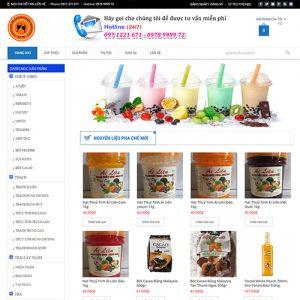 Thiết kế web đồ ăn - thức uống