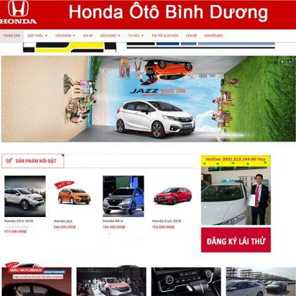 Thiết kế web ô tô Bình Dương