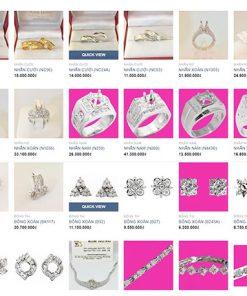 Thiết kế web tiệm vàng Bình Dương
