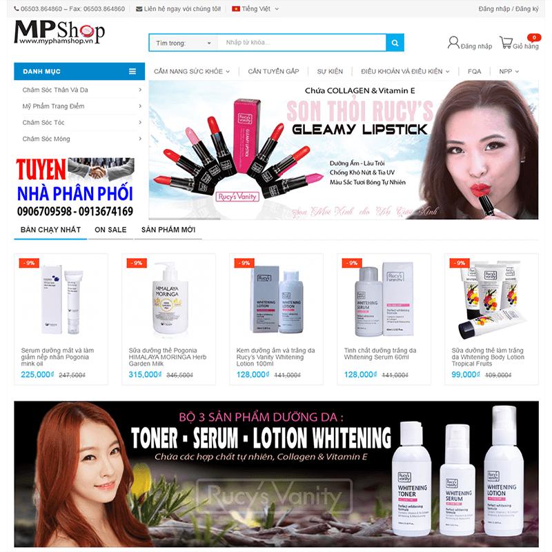 Thiết kế web mỹ phẩm Hàn Quốc