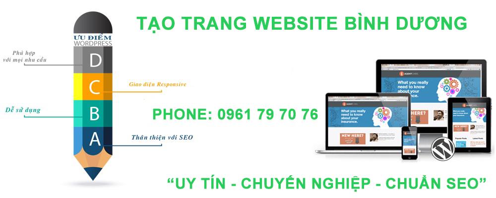 Tạo Trang Website Bình Dương