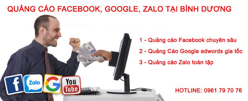 Quảng Cáo Facebook, Google, Zalo Tại Bình Dương