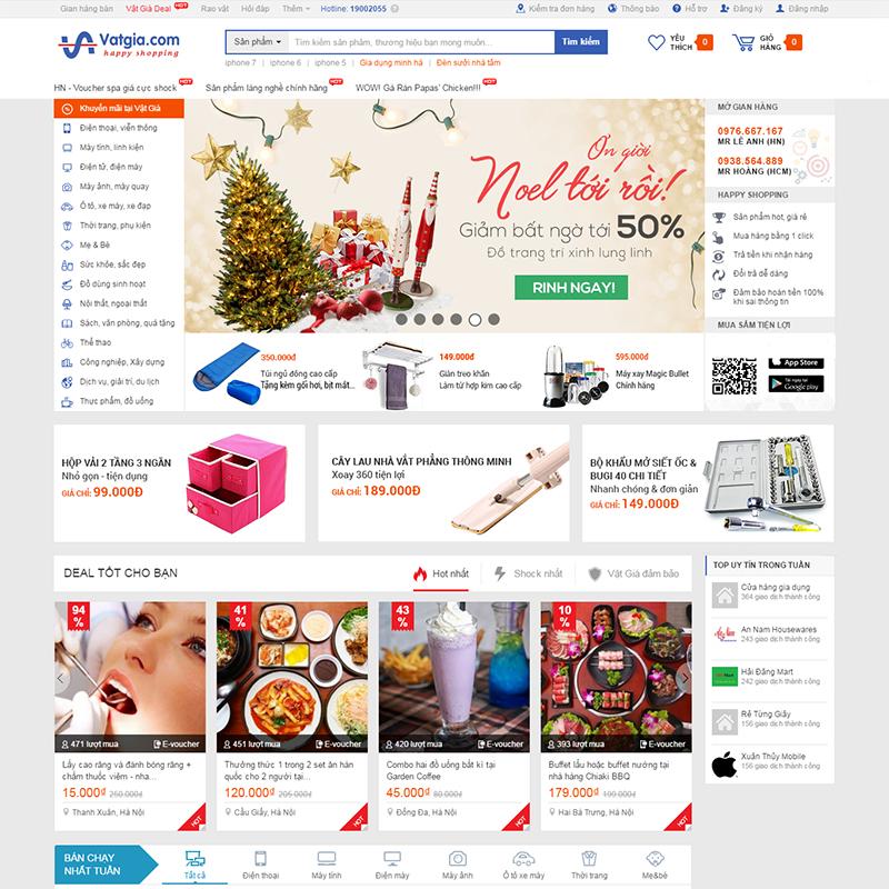 Thiết kế web thương mại điện tử (Vatgia)